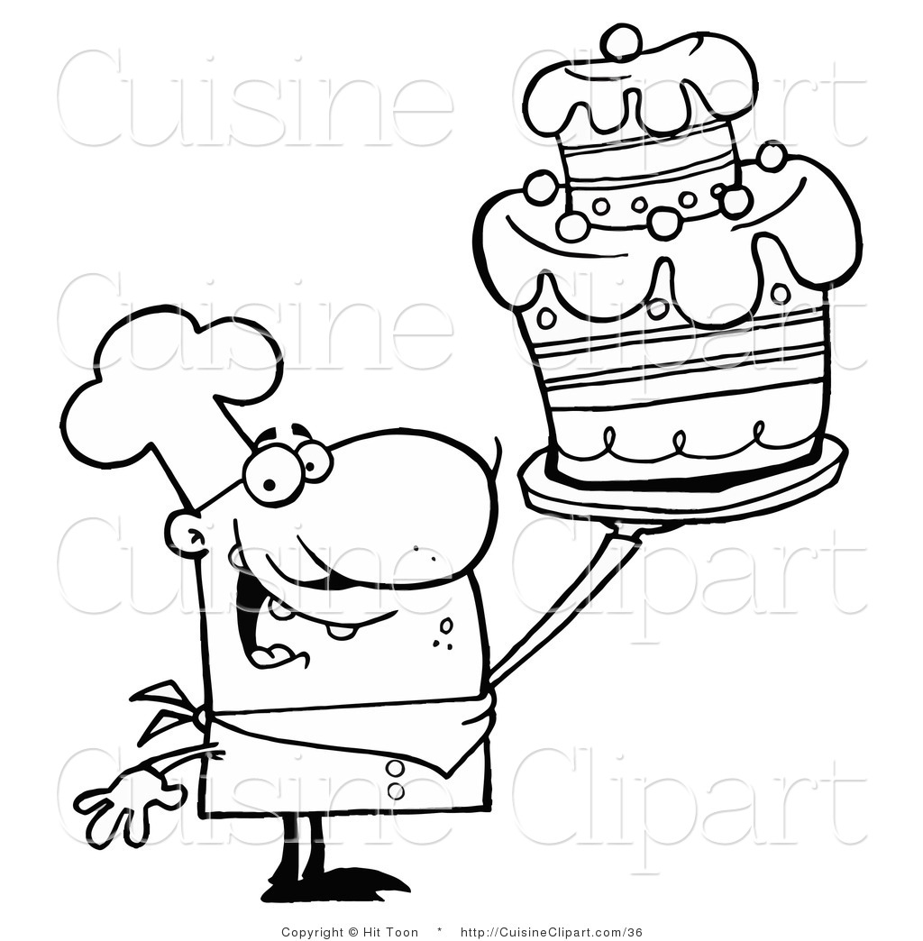Bakers Man Hat Coloring Pages