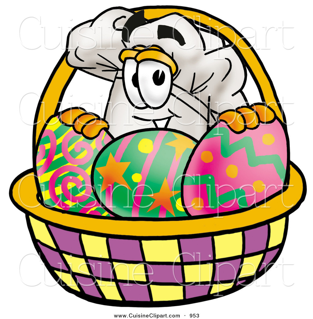 Cartoon Characters Easter Baskets : Cuisine clipart of a cook s hat mascot cartoon character