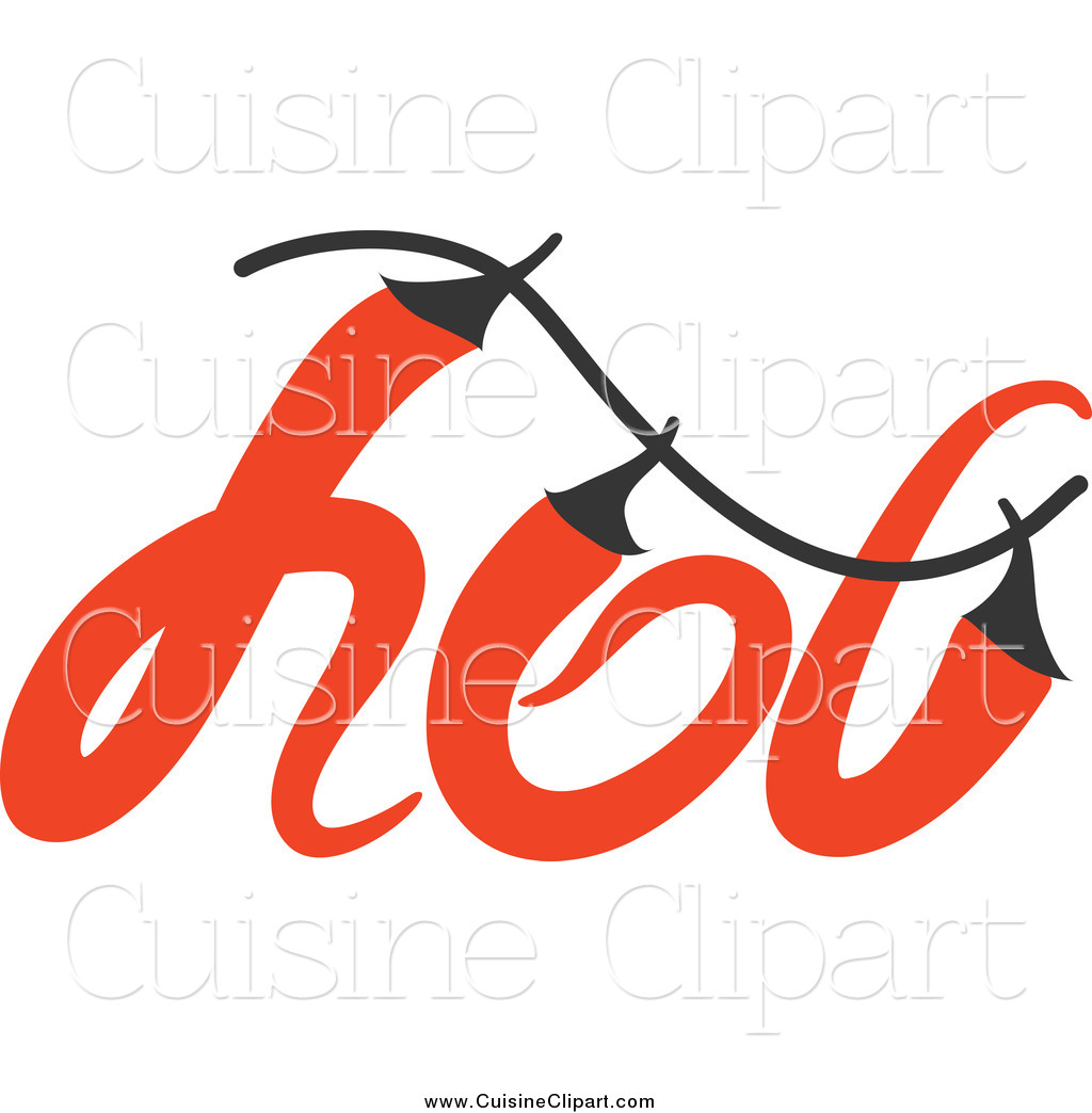 Cuisine clipart of a hot chili pepper word design by elena 19991 - Cuisne design ...