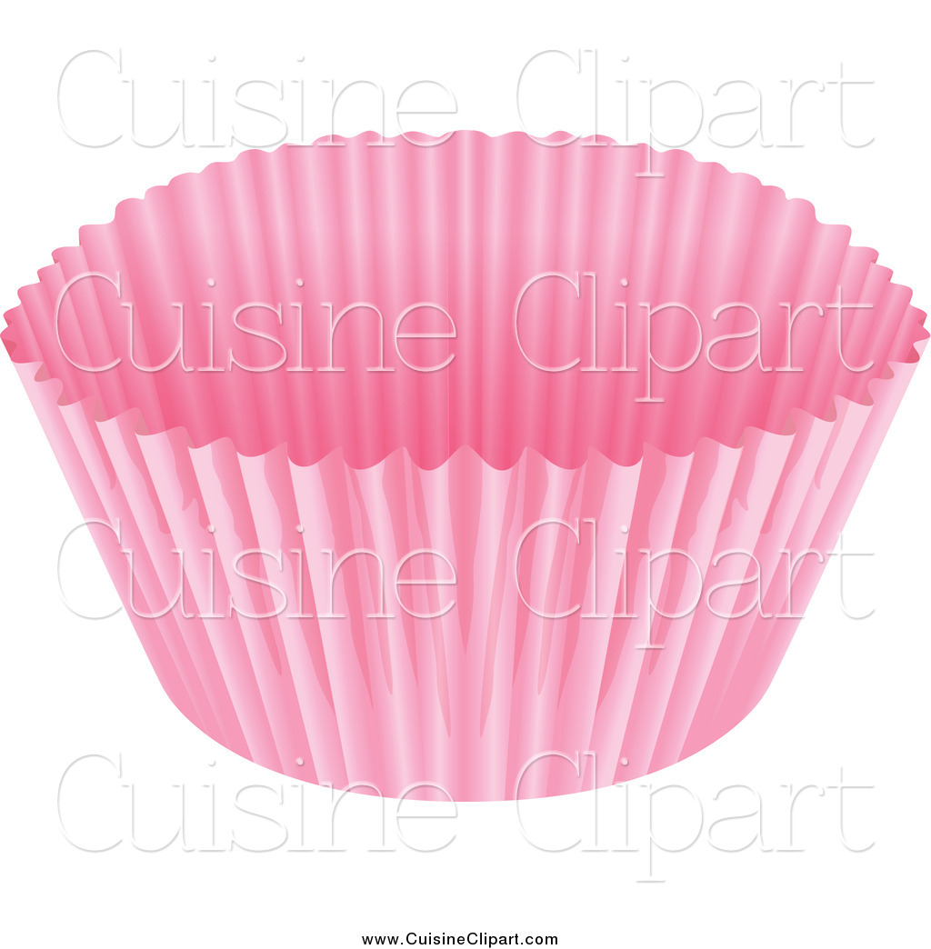 Cuisine Clipart of a Pink Cupcake Paper Liner by colematt ...