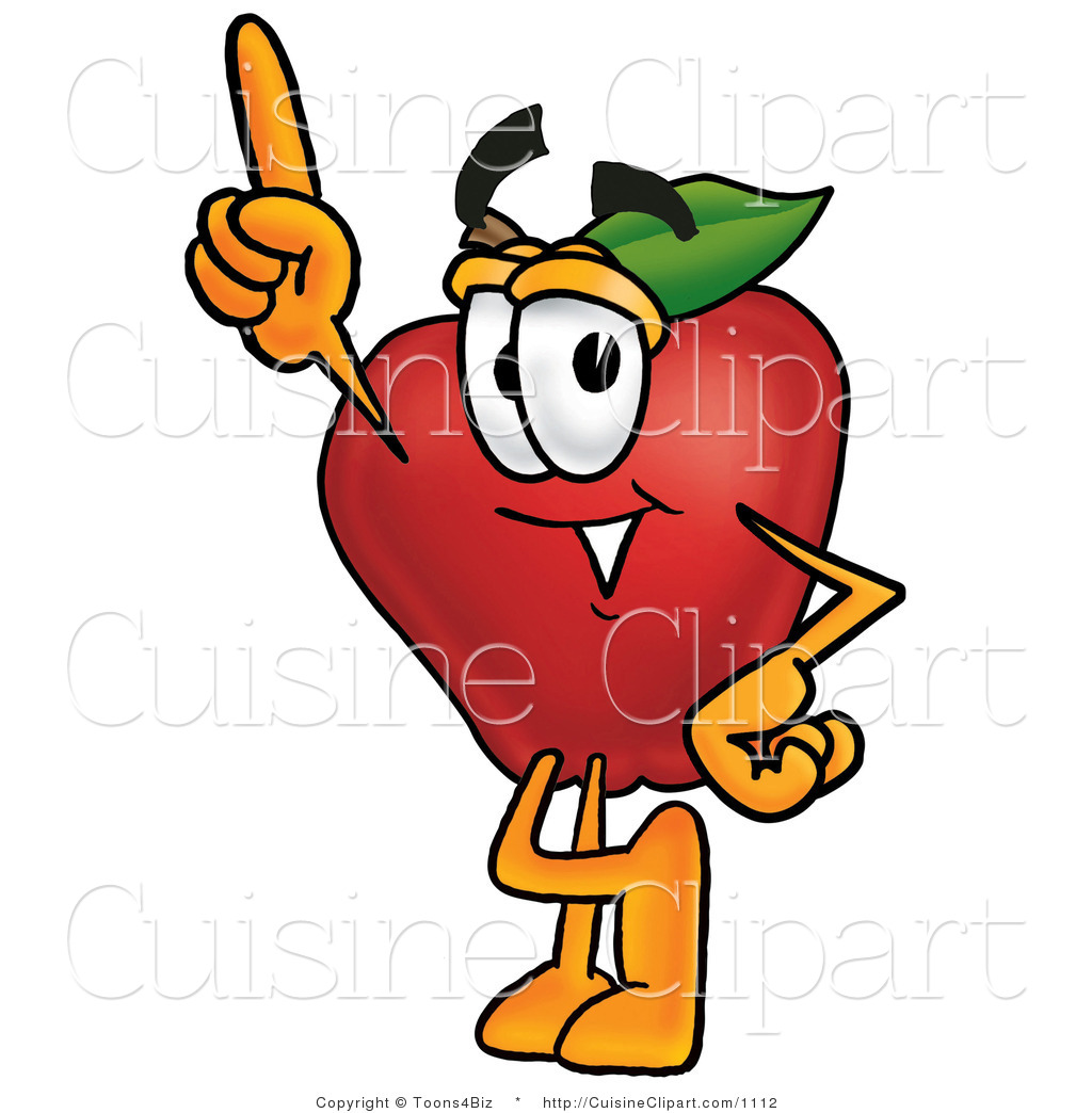 Apple Character Design : Cuisine clipart of a red apple produce character mascot