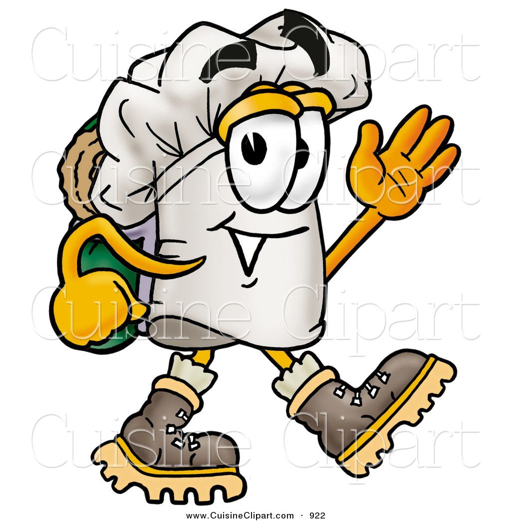 cuisine clipart of a smiling chefs hat mascot cartoon character