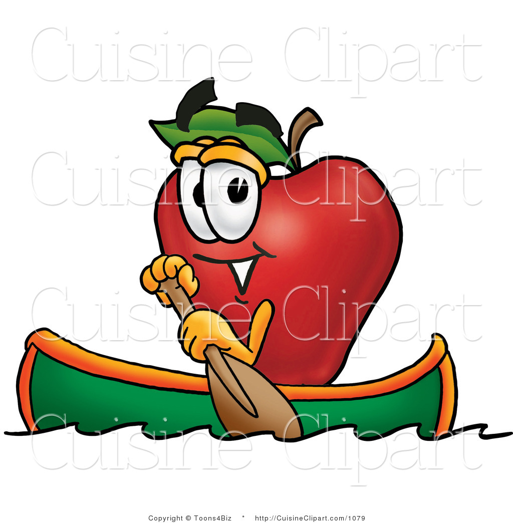 Apple Character Design : Cuisine clipart of a sporty red apple character mascot