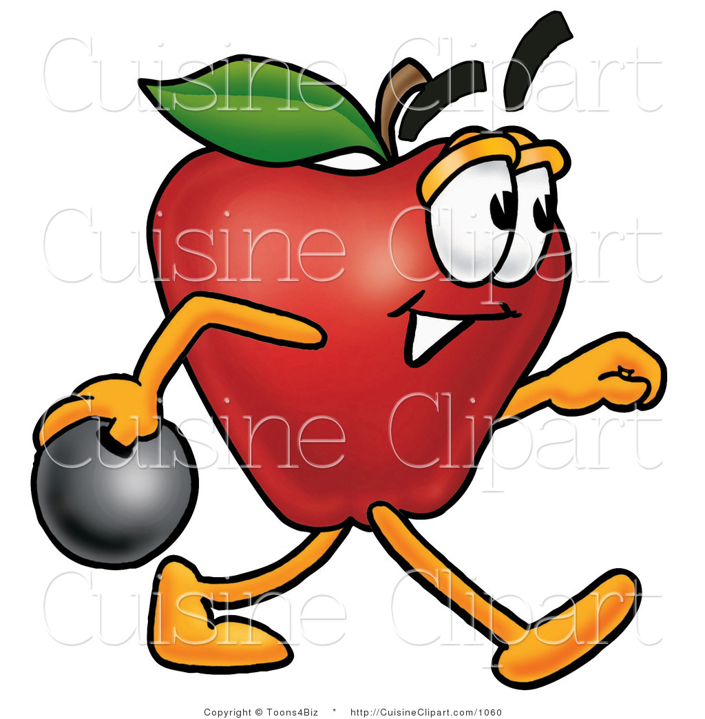 Apple Character Design : Bowling ball and cake ideas designs
