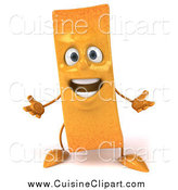 Cuisine Clipart of a 3d French Fry Character Shrugging by Julos