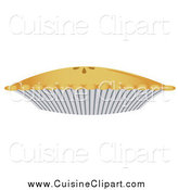 Cuisine Clipart of a Baked Pie by Randomway