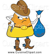 Cuisine Clipart of a Candy Corn Cowboy Bandit by Erikalchan