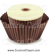 Cuisine Clipart of a Chocolate Candy by Graphics RF