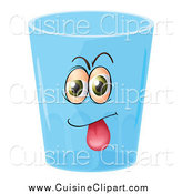 Cuisine Clipart of a Goofy Water Cup Character by Graphics RF