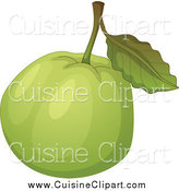 Cuisine Clipart of a Green Guava by Graphics RF