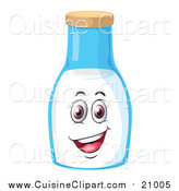 Cuisine Clipart of a Happy Milk Jar by Graphics RF