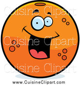 Cuisine Clipart of a Happy Orange by Cory Thoman
