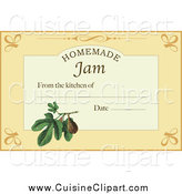 Cuisine Clipart of a Homemade Jam Label with Text Space by Eugene