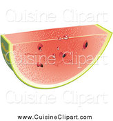Cuisine Clipart of a Juicy Slice of Fresh Cut Watermelon by Vitmary Rodriguez