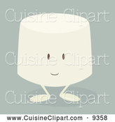Cuisine Clipart of a Marshmallow by Randomway
