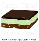 Cuisine Clipart of a Mint Naimobar Dessert by Randomway