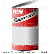 Cuisine Clipart of a NEW and Improved Can Of... by Djart
