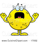 Cuisine Clipart of a Screaming Lemon Mascot by Cory Thoman