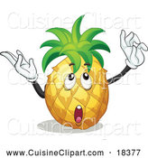 Cuisine Clipart of a Thinking and Gesturing Pineapple by Graphics RF