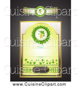 Cuisine Clipart of a Wine Label Design Elements by Merlinul