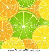 Cuisine Clipart of AOrange Lime and Lemon Background by Elaineitalia