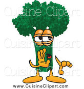 Cuisine Clipart of Broccoli Whispering by Toons4Biz