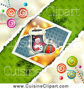 Cuisine Clipart of Christmas Candy with a Stocking Picture by Merlinul