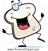 Cuisine Clipart of Happy Bread Dancing by Cory Thoman