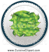 Cuisine Clipart of Seasoned Peas Served on a Plate by Graphics RF