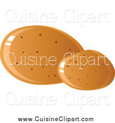 Cuisine Clipart of Shiny Potatoes by Tonis Pan