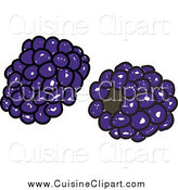 Cuisine Clipart of Sketched Blackberries by Prawny