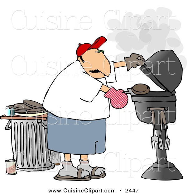 free clipart man grilling - photo #33