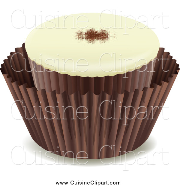 Cuisine Clipart of a Chocolate Candy