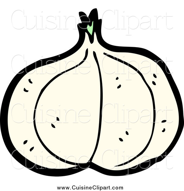 Cuisine Clipart of a Garlic Head