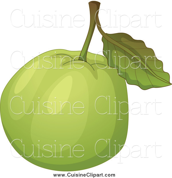 Cuisine Clipart of a Green Guava