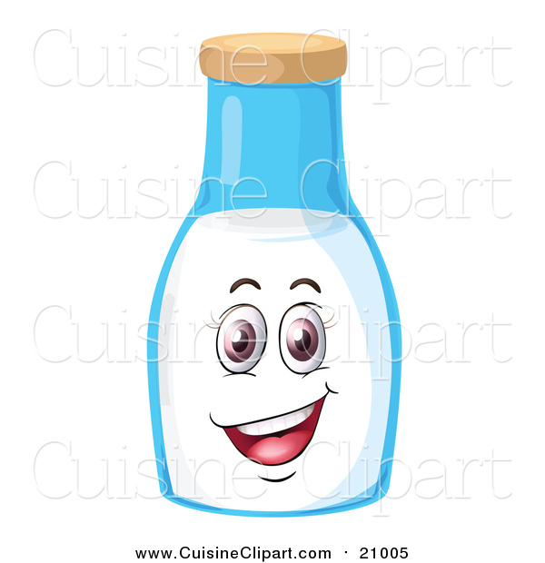 Cuisine Clipart of a Happy Milk Jar