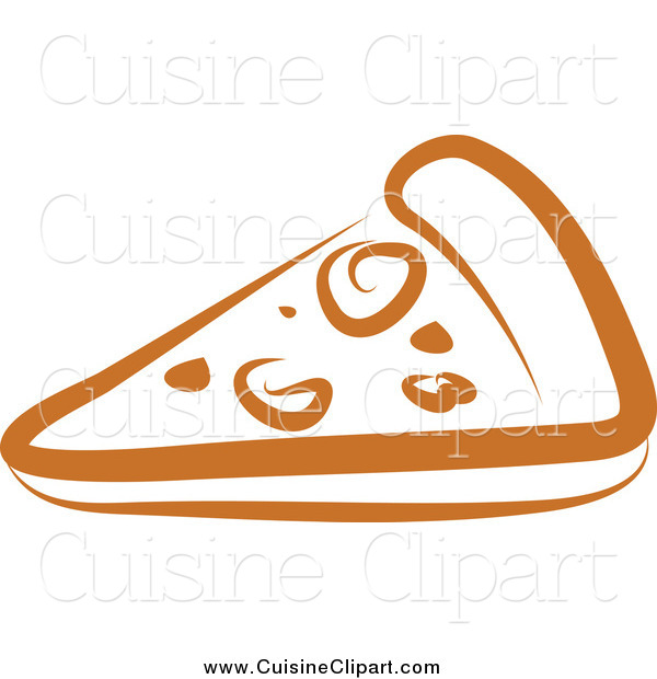 Cuisine Clipart of a Pizza Slice