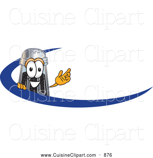 Cuisine Clipart of a Smiling Pepper Shaker Mascot Cartoon Character with a Blue Dash