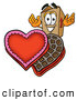 Cuisine Clipart of a Cheerful Cardboard Box Mascot Cartoon Character with an Open Box of Valentines Day Chocolate Candies by Toons4Biz