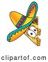 Cuisine Clipart of a Friendly Taco Mascot Cartoon Character Peeking Around a Corner by Toons4Biz