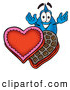 Cuisine Clipart of a Friendly Water Drop Mascot Cartoon Character with an Open Box of Valentines Day Chocolate Candies by Toons4Biz