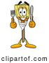 Cuisine Clipart of a Happy Broom Mascot Cartoon Character Holding a Knife and Fork by Toons4Biz