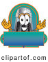 Cuisine Clipart of a Happy Pepper Shaker Mascot Cartoon Character with a Blue and Green Label by Toons4Biz
