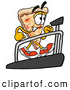 Cuisine Clipart of a Happy Slice of Pizza Mascot Cartoon Character Walking on a Treadmill in a Fitness Gym by Toons4Biz