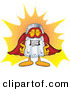 Cuisine Clipart of a Proud Salt Shaker Mascot Cartoon Character Dressed As a Super Hero by Toons4Biz