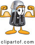 Cuisine Clipart of a Smiling Pepper Shaker Mascot Cartoon Character Flexing His Arm Muscles by Toons4Biz