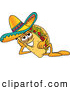 Cuisine Clipart of a Tasty Taco Mascot Cartoon Character Resting His Head on His Hand by Toons4Biz