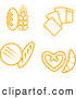 Cuisine Clipart of Golden Bread and Grains by Vector Tradition SM