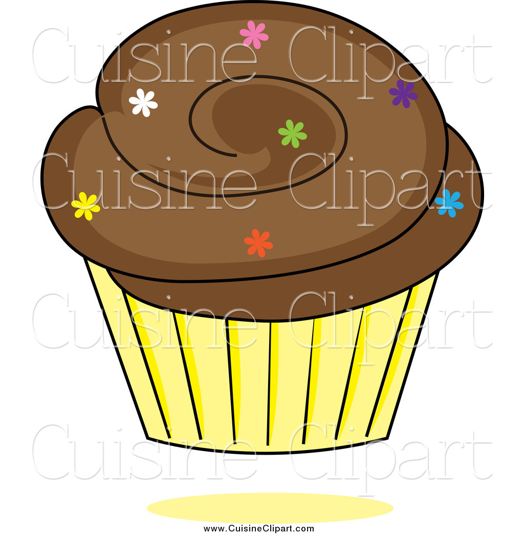 Cupcake yellow PNG Picture.