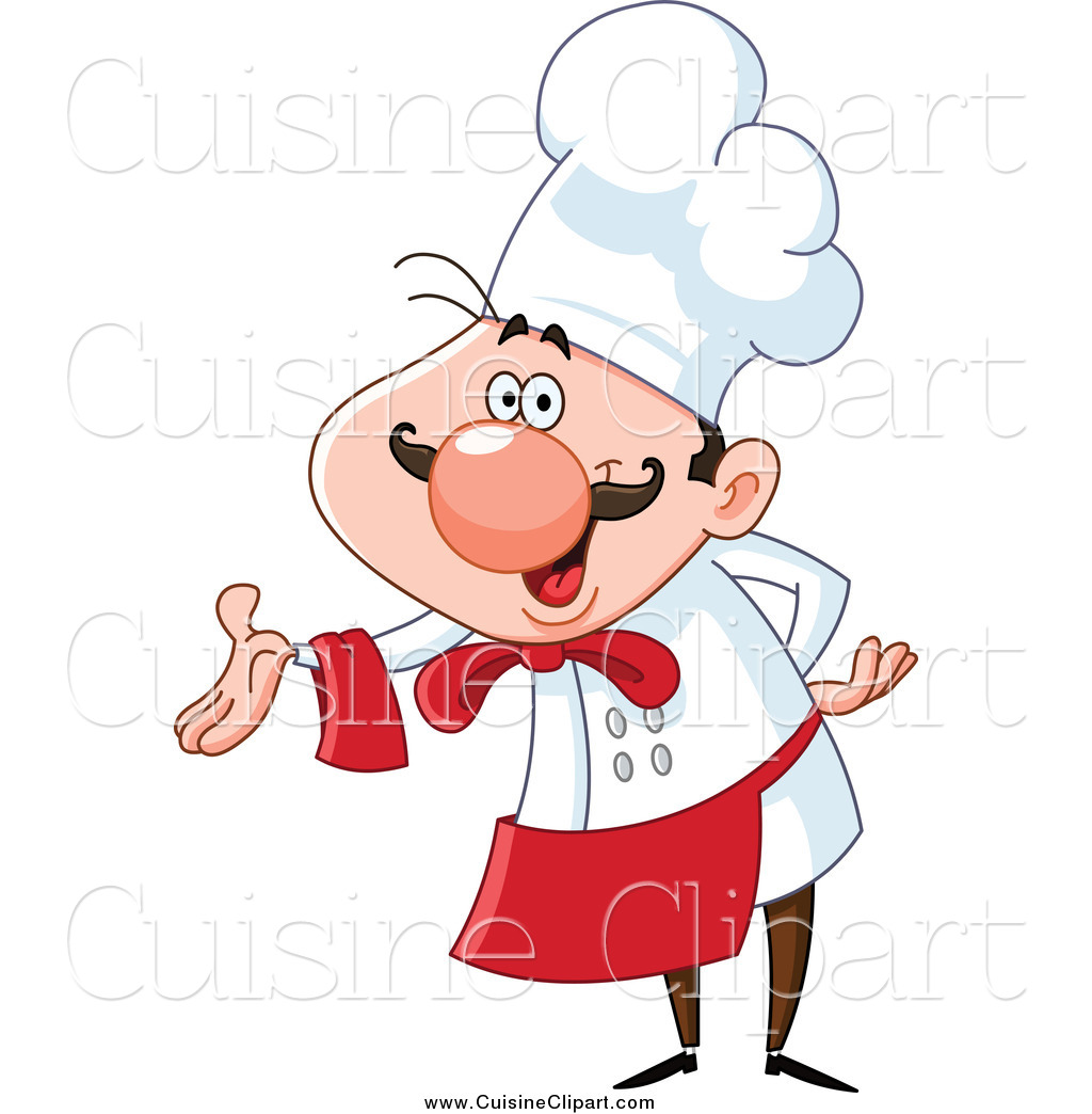 cuisine clipart of a happy chef presenting by yayayoyo 15858 rh cuisineclipart com chef clipart black and white chef clip art free